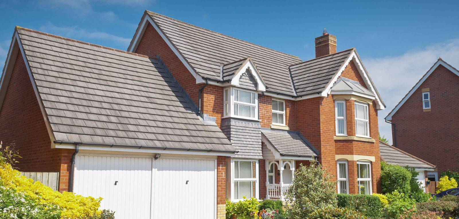 Victorian house with tiles roof