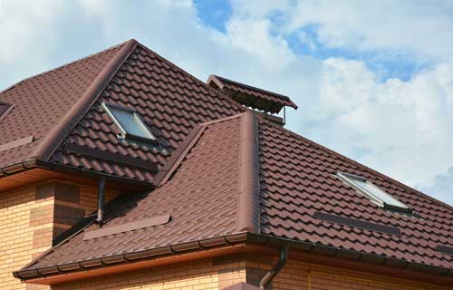 House with Velux style roof light