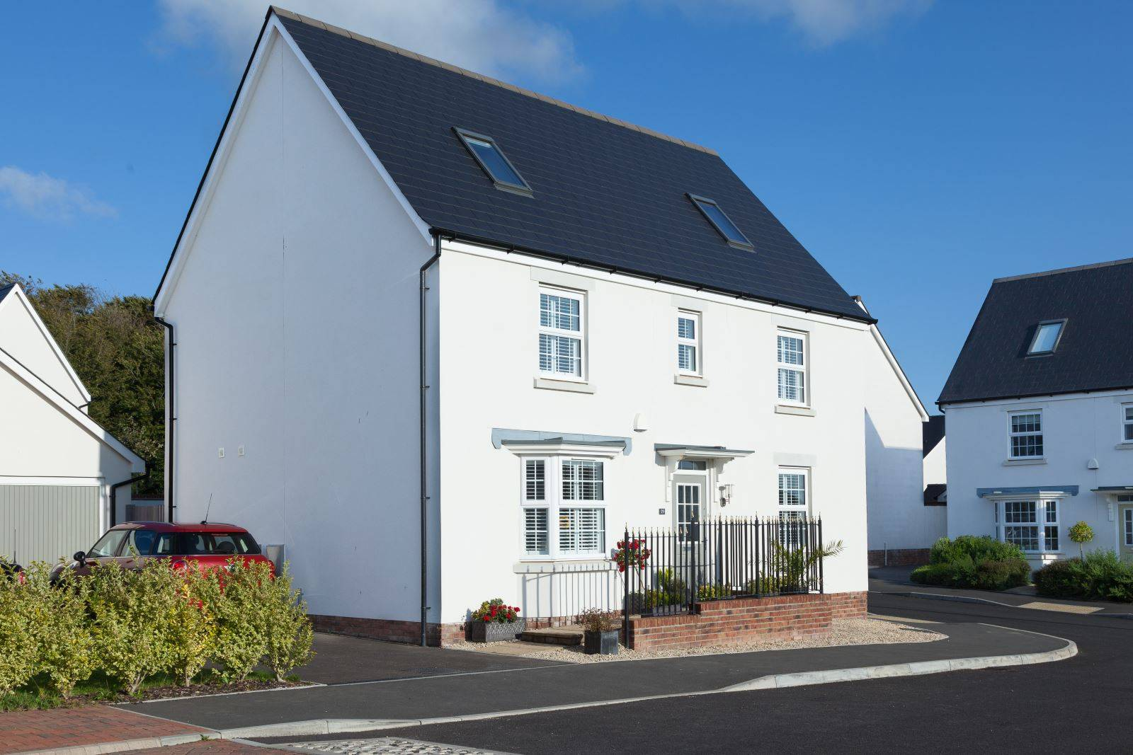 moorland white show home roof